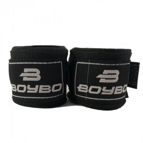 Боксерский бинт BoyBo 2,5м (хлопок) черный 2шт, GN-1125