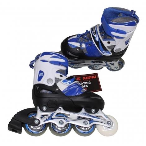 Роликовые коньки SS-CHIN-SK-390 30-33 сине-белые