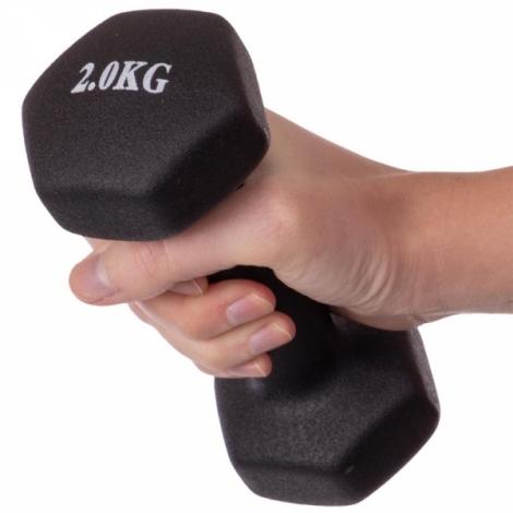Гантели для фитнеса с неопреновым покрытием 2 кг Fitnessport VDD-02-2k