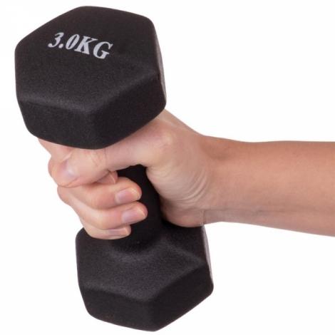 Гантели для фитнеса с неопреновым покрытием 3 кг Fitnessport VDD-02-3k