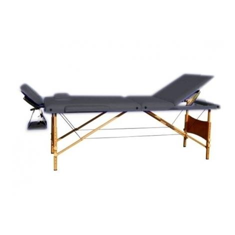 Массажный стол 3-х секционный чёрный HY-30110