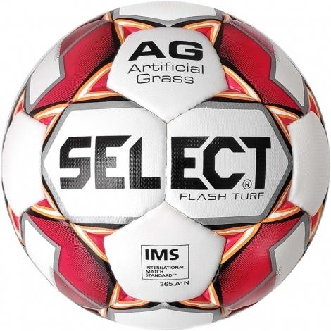 Мяч футбольный Select  Flash Turf IMS (012) бел/красн р.5