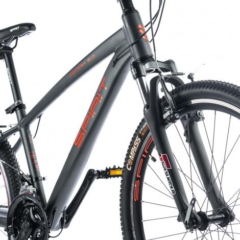 """Велосипед Spirit Spark 6.0 26"""" рама XS темно-серый/матовый 2021"""