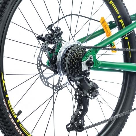 """Велосипед Spirit Flash 4.2 24"""" рама Uni зелёный/матовый 2021"""