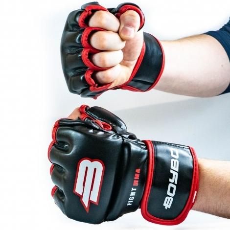 Перчатки ММА BoyBo Challenger Flex S красные SF12-73-2
