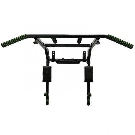 Турник-брусья настенный Newt Iron 4 в 1 с мягкими ручками черный