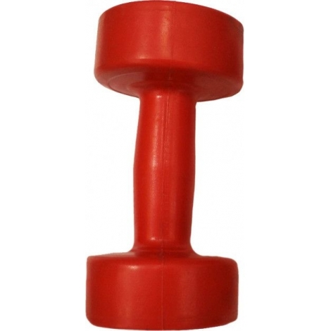 Гантель пластик EVROTOP 1,5кг, красная