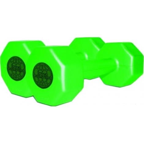Гантели пластиковые InterAtletika по 3 кг (2шт.)