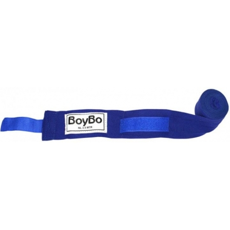 Боксерский бинт BoyBo 2,5 м синий 2шт GN-2425