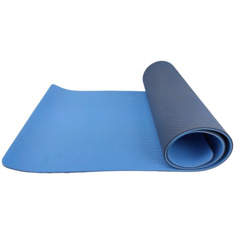 Коврик йоги и фитнеса USA Style LEXFIT синий 0,8см, LKEM-3039A-0,8