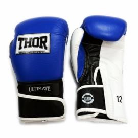 Перчатки боксерские THOR ULTIMATE сине-черно-белые