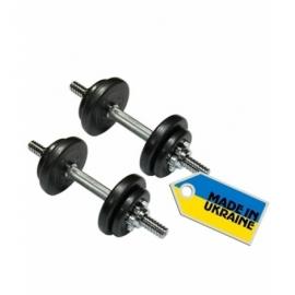 Гантели наборные стальные 2 шт по 7,5 кг.