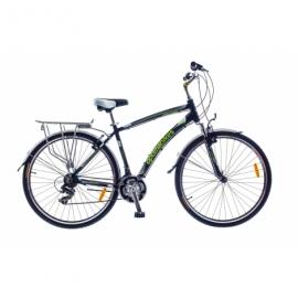 "Велосипед SKD 28"" Optimabikes HIGHWAY AM Vbr Al с багажн. черно-зеленый"