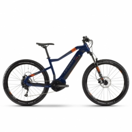 "Электровелосипед Haibike SDURO HardSeven 1.5 i400Wh 9 s. Altus 27,5"" рама XL голубой-оранжевый-титан 2020"