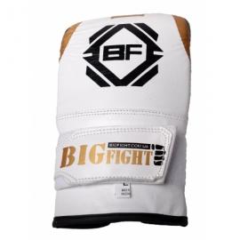 """Снарядные перчатки кожа""""BigFight"""" белые"""