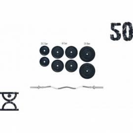 Штанга RN-Sport W-образная на 50 кг с хромированным грифом