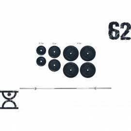 Штанга RN-Sport 62 кг с хромированным грифом