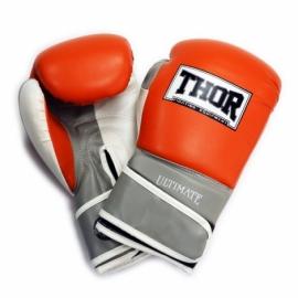 Перчатки боксерские THOR ULTIMATE оранжево-бело-серые