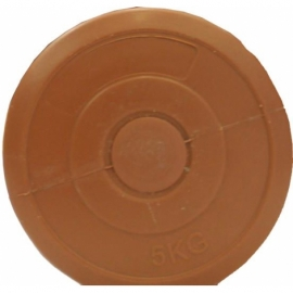 Гантель пластик EVROTOP 5кг (1шт), коричн.