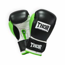 Перчатки боксерские THOR TYPHOON черно-зелено-белые