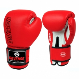 Боксерские перчатки PU EV-10-1179 красно-белые