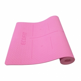 Коврик для фитнеса Ecofit MD9038 двухслойный TPE 1830*610*6мм розовый