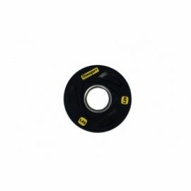 Диск олимпийский обрезиненный черный 1.25 кг Fitnessport RCP17-1.25
