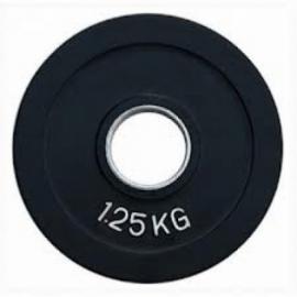 Диск олимпийский обрезиненный цветной 1,25 кг Fitnessport RCP19-1.25
