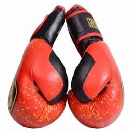 Боксерские перчатки красно-желтые BigFight кожа 14ун,16ун