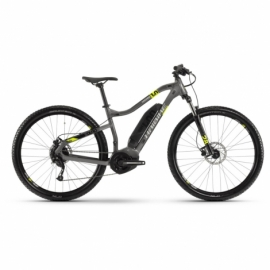 "Электровелосипед Haibike SDURO HardNine 1.0 400Wh 9 s. Altus 29"" рама L серо-лаймово-черный 2020"
