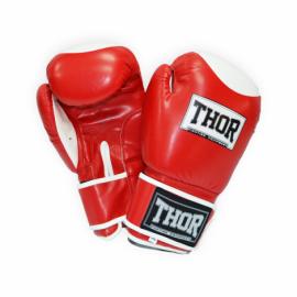 Перчатки боксерские THOR COMPETITION красно-белые