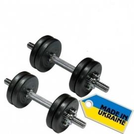 Гантели наборные стальные 2 шт по 10 кг.