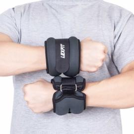 Утяжелители USA Style LEXFIT 1кг черные, 2шт, LKW-1222-1