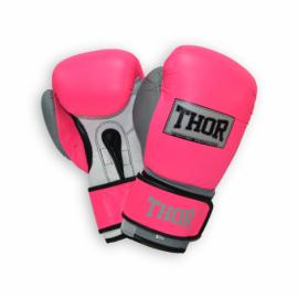 Перчатки боксерские THOR TYPHOON розово-бело-серые