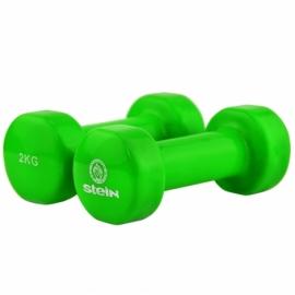 Гантель виниловая Stein 2.0 кг зеленая