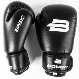 Боксерские перчатки BoyBo Basic к/з черн. SF1-45