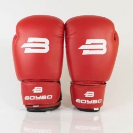 Боксерские перчатки BoyBo Basic к/з красн. SF1-43