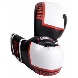 Боксерские перчатки черно-белые BigFight кожа