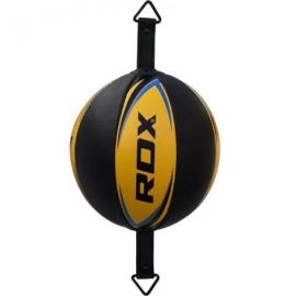 Боксерская груша на растяжке RDX Gold с резиновым жгутом
