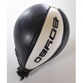 Боксерская груша BoyBo (кожа) круглая, черн.-бел. GR-312