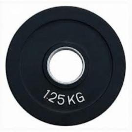 Диск олимпийский обрезиненный Fitnessport RCP18-1,25 кг.
