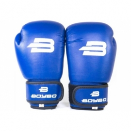 Боксерские перчатки BoyBo Basic (иск.кожа) син. SF1-44