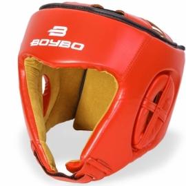 Боксерский тренировочный шлем BoyBo серия Nylex красный SW2-73