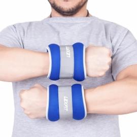Утяжелители USA Style LEXFIT 0,5кг синие, 2шт, LKW-1220-0,5