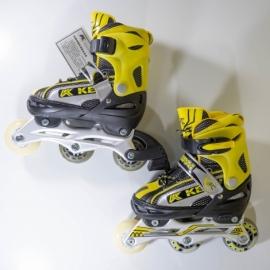 Роликовые коньки KEPAI р.S/30-33 SS-CHIN-SK-960 желтые