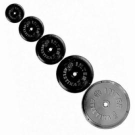 Диск пластиковый черный Inter Atletika 1 кг. D-26 мм.