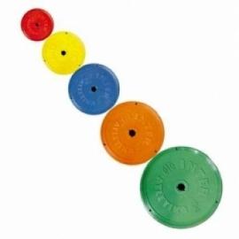 Диск пластиковый цветной Inter Atletika 5 кг. D-26 мм.